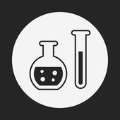 Experiment Beaker icon — Stock Vector