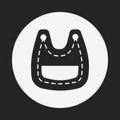Baby bib icon — Stock Vector