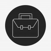 Briefcase line icon — Stock Vector