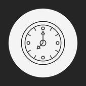 Clock line icon — 图库矢量图片