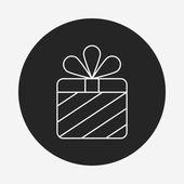 Birthday present line icon — Stock Vector
