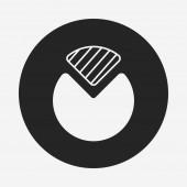 Financial chart icon — Stock Vector