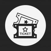 Иконка Билет кино — Cтоковый вектор