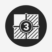 Video tape icon — Stock Vector