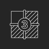 Video tape line icon — Stock Vector