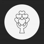 Älska trädgränsen ikonen — Stockvektor