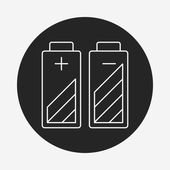 Battery line icon — Stock Vector