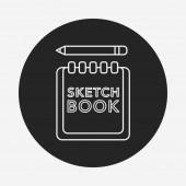 Sketchbook line icon — Stock Vector