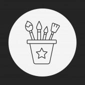 Paint brush line icon — Stock Vector