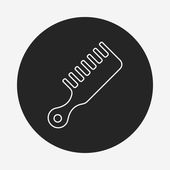 Comb line icon — Stock Vector