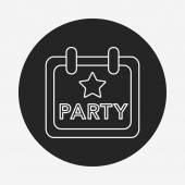 Party sign line icon — Stock Vector