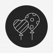 Balon linia ikona — Wektor stockowy