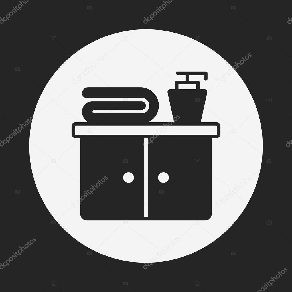 Bathroom closet cabinet icon stock vector vectorchef for Closet icon