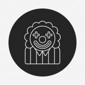 Clown line icon — Stock Vector