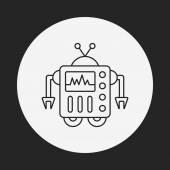 Robot line icon — Stock Vector
