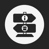 Zoo sign icon — Stock Vector