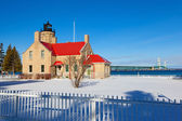 Old Mackinac Point Lighthouse in Winter — Stock Photo