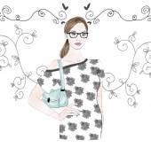 Fashion ILLUSTRATION - HAND DRAWN WATERCOLOR illustration — Stock Photo