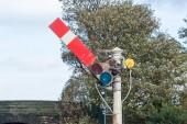 Semaphore Railway Signal in Go Proceed Position — Stock Photo