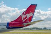 Virgin Atlantic Airways Airbus A340 tail — Stock Photo