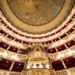 Interiors of Teatro San Carlo, Naples opera, italy — Stock Photo #67237873