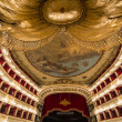 Interiors of Teatro San Carlo, Naples opera, italy — Stock Photo #67238323