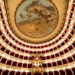 Interiors of Teatro San Carlo, Naples opera, italy — Stock Photo #67239719