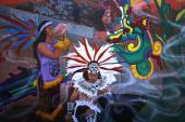 Mexican murals painted in Balmy Alley, San Francisco, California — Fotografia Stock