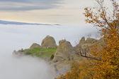 Mountain autumn clouds — Stock Photo