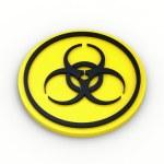 Bio hazard warning sign. 3d Illustration on white background — Stock Photo #68708933