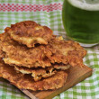 Irish potato pancakes in st.Patrick's day themed setting — Stock Photo #66032085