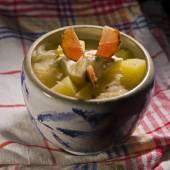 Plato de sopa de chucrut col — Foto de Stock