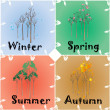 4 Seasons Change — Stock Vector #78801814