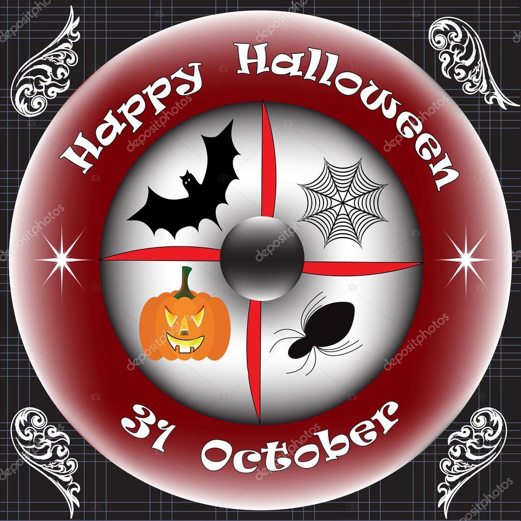 31 Ekim tarihinde Mutlu Cadılar Bayramı — Stok Vektör © VectorPart ...