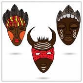 Mascaras africana — Vector de stock