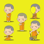 Monk cartoon — Stock vektor