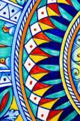 Geometric design on ceramic art — Stock Photo