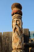 木製の彫刻 — ストック写真