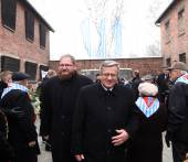 70th anniversary of the liberation of Nazi German concentraction and extermination camp Auschwitz — Stock fotografie