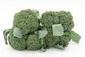 Fresh whole broccoli on white background — Stock Photo