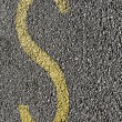 Letter S painted on the pavement — Stock Photo #65195867