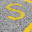 Letter S painted on the pavement — Stock Photo #65195993