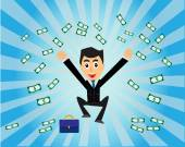 A lot of money — Stock Vector