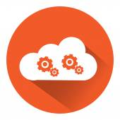 Cloud and gear — Stock Vector
