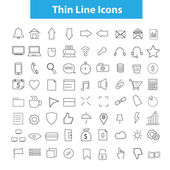 Thin icons — Stock Vector