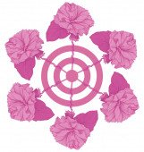 Paper roses target — Stock Photo