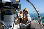 Baby on board. Yachting — Stock Photo