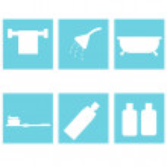 Bath accessories. flat design — Stock Vector #70607907