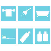 Bath accessories. flat design — ストックベクタ