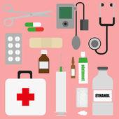 Medical supplies — Stock Vector